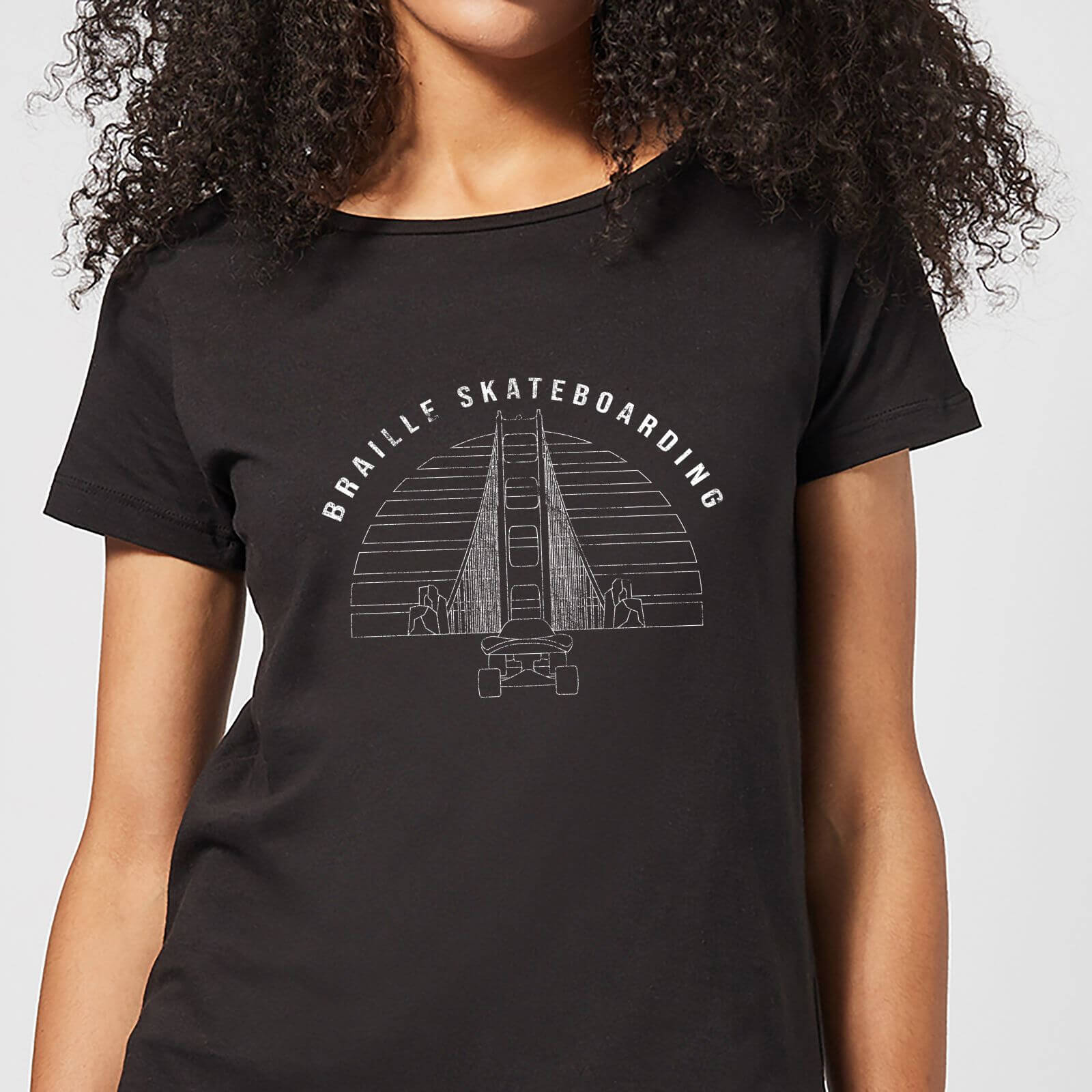Braille Skateboarding Limited Edition Bridge Sunset Women's T-Shirt - Black - 5XL - Black