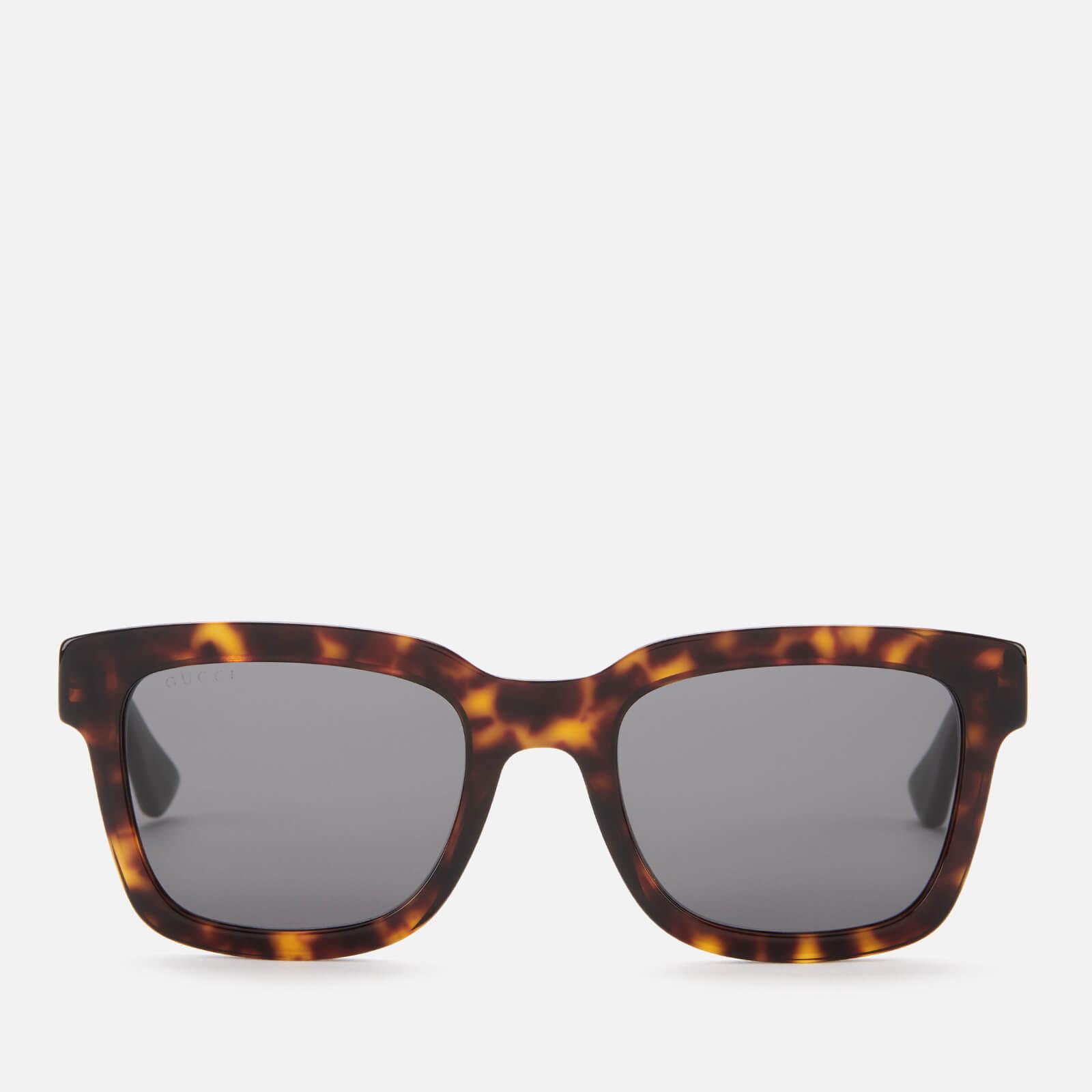 Gucci Men's Acetate Square Frame Sunglasses - Havana/Green/Grey