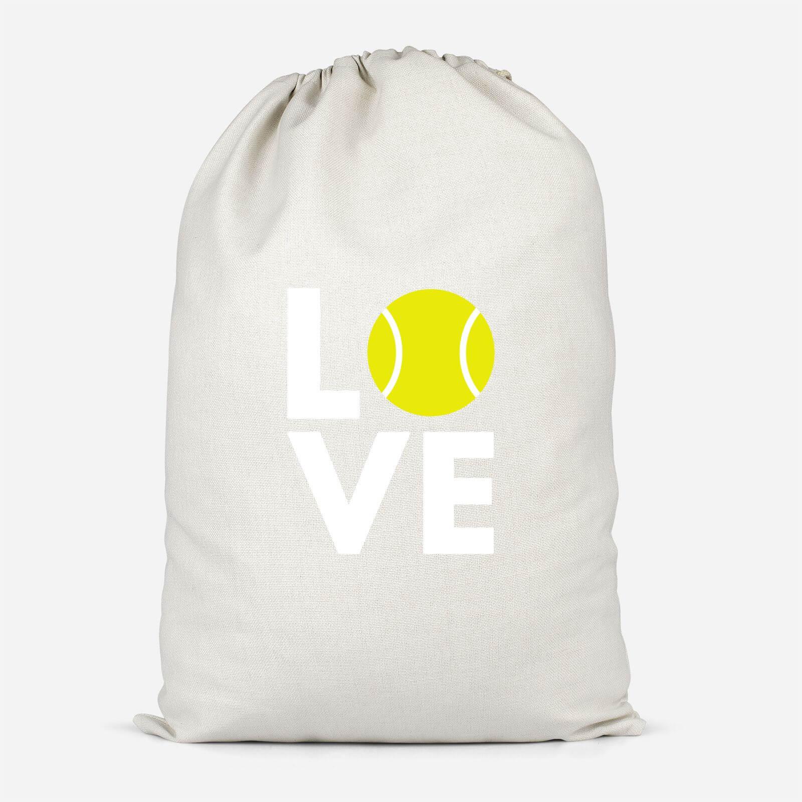 Love Tennis Cotton Storage Bag   Large