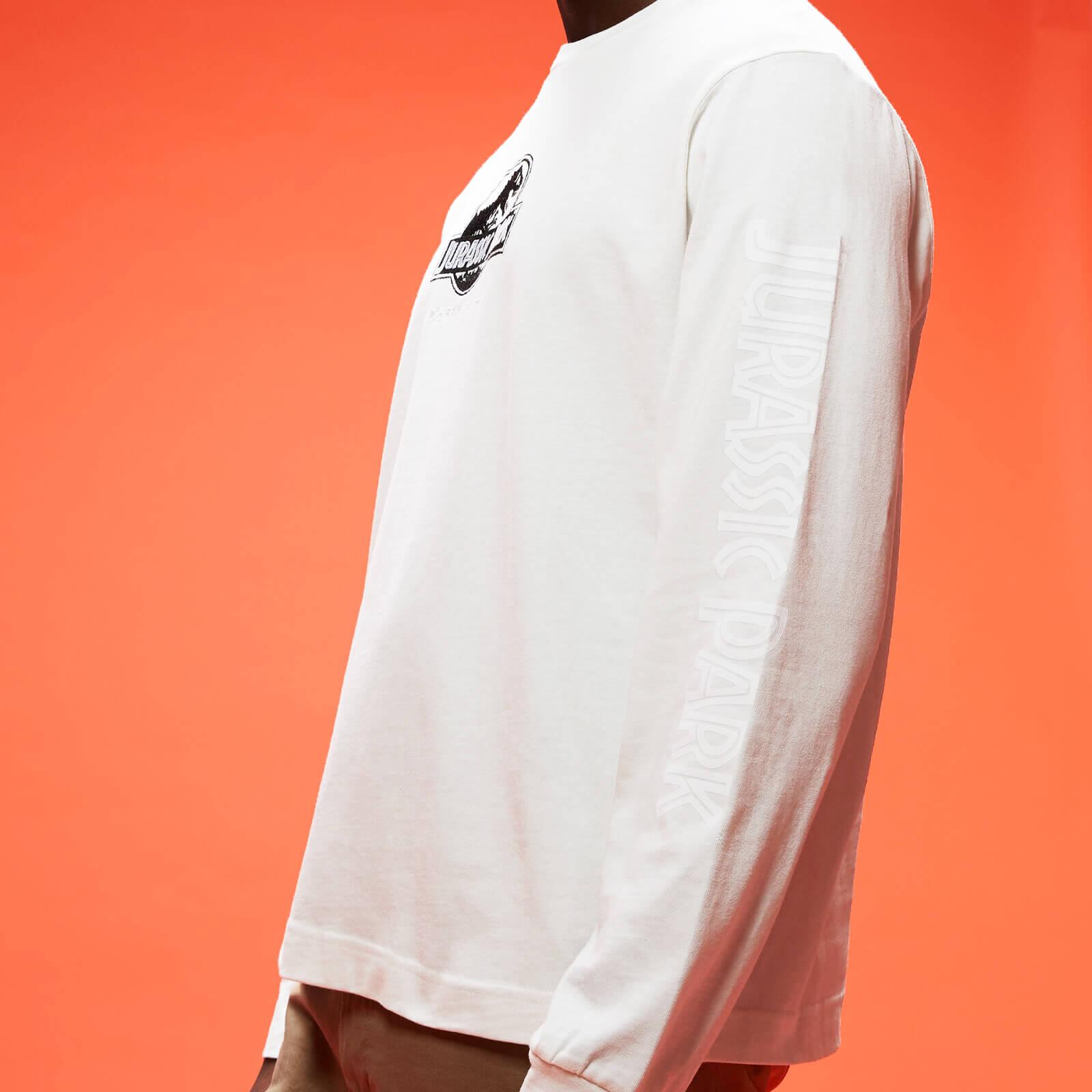 Jurassic Park Primal Embroidered Long Sleeve T-Shirt - Cream - XXL - Cream