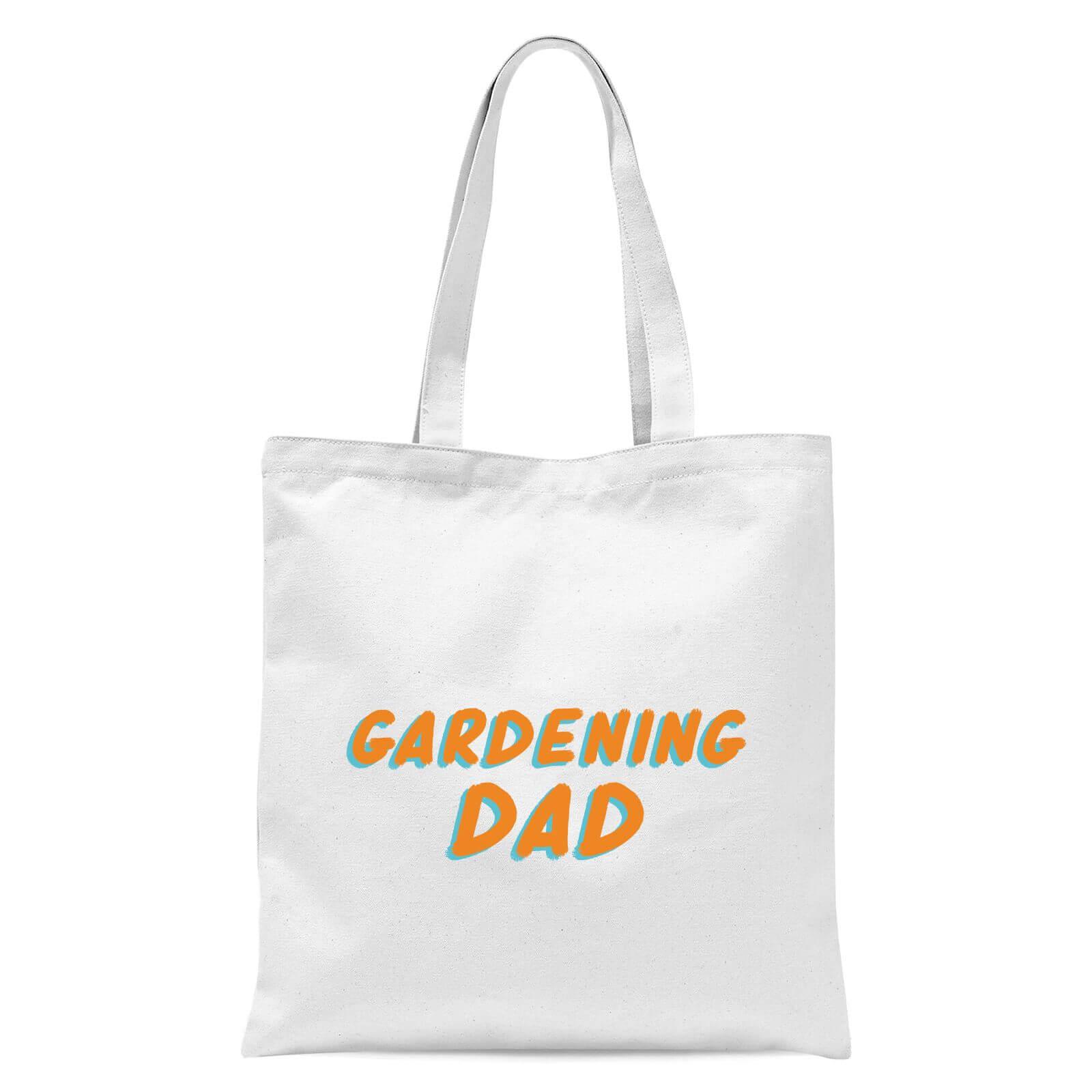 Gardening Dad Tote Bag   White
