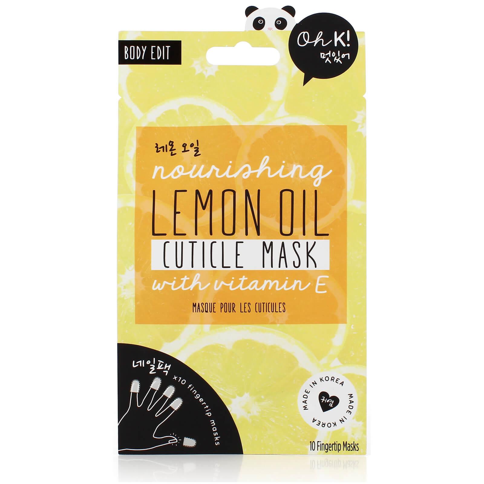 oh k! lemon cuticle finger mask 6g