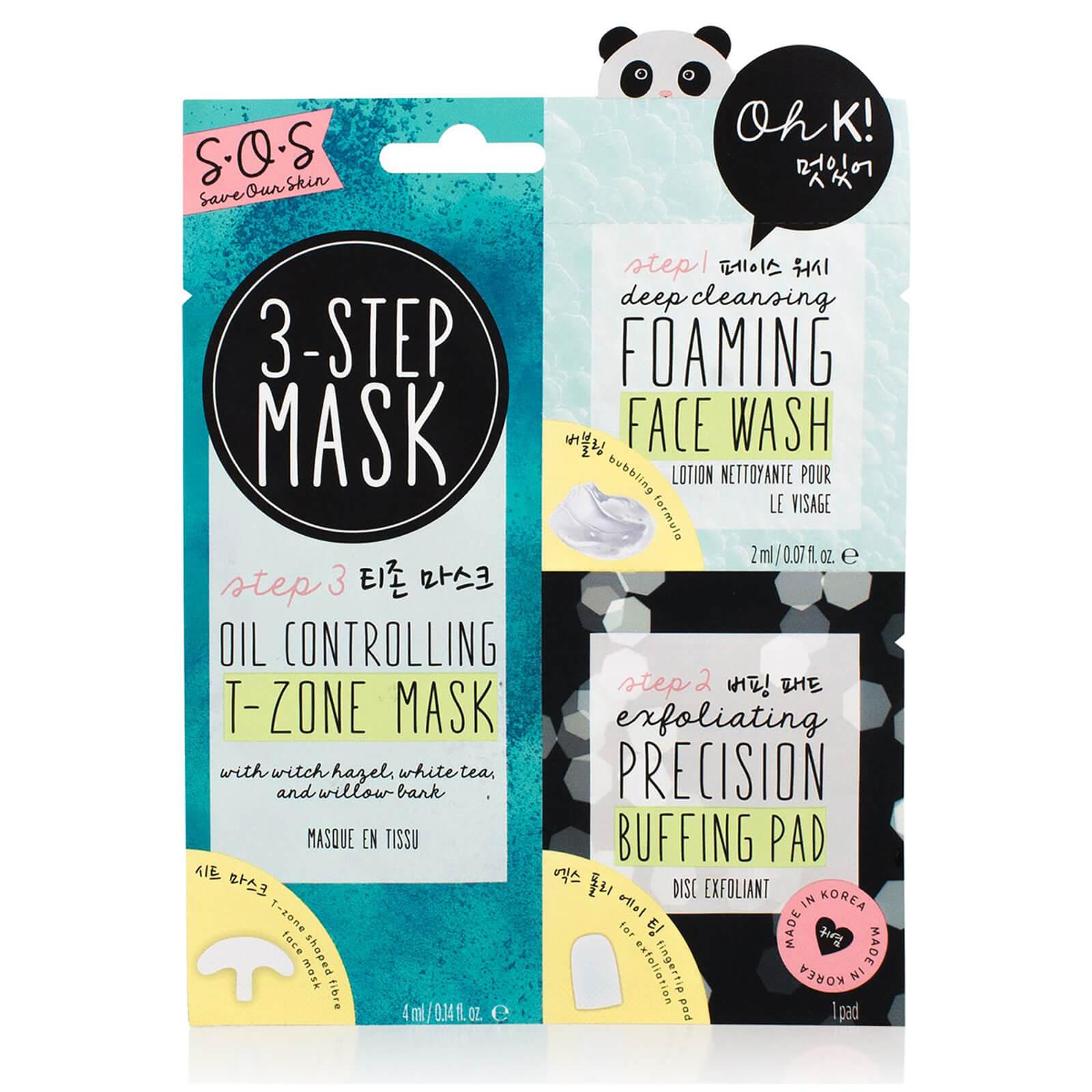 oh k! sos 3-step blemish solution mask