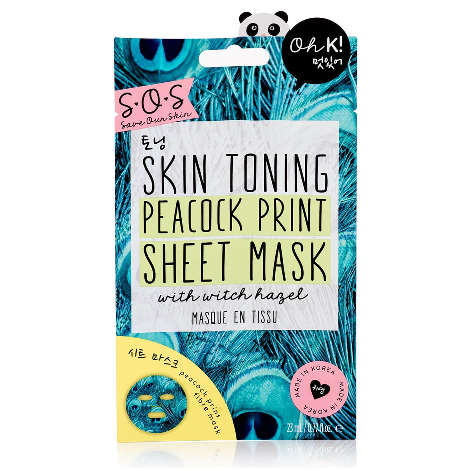 Купить Oh K! SOS Printed Peacock Toning Print Sheet Mask 23ml