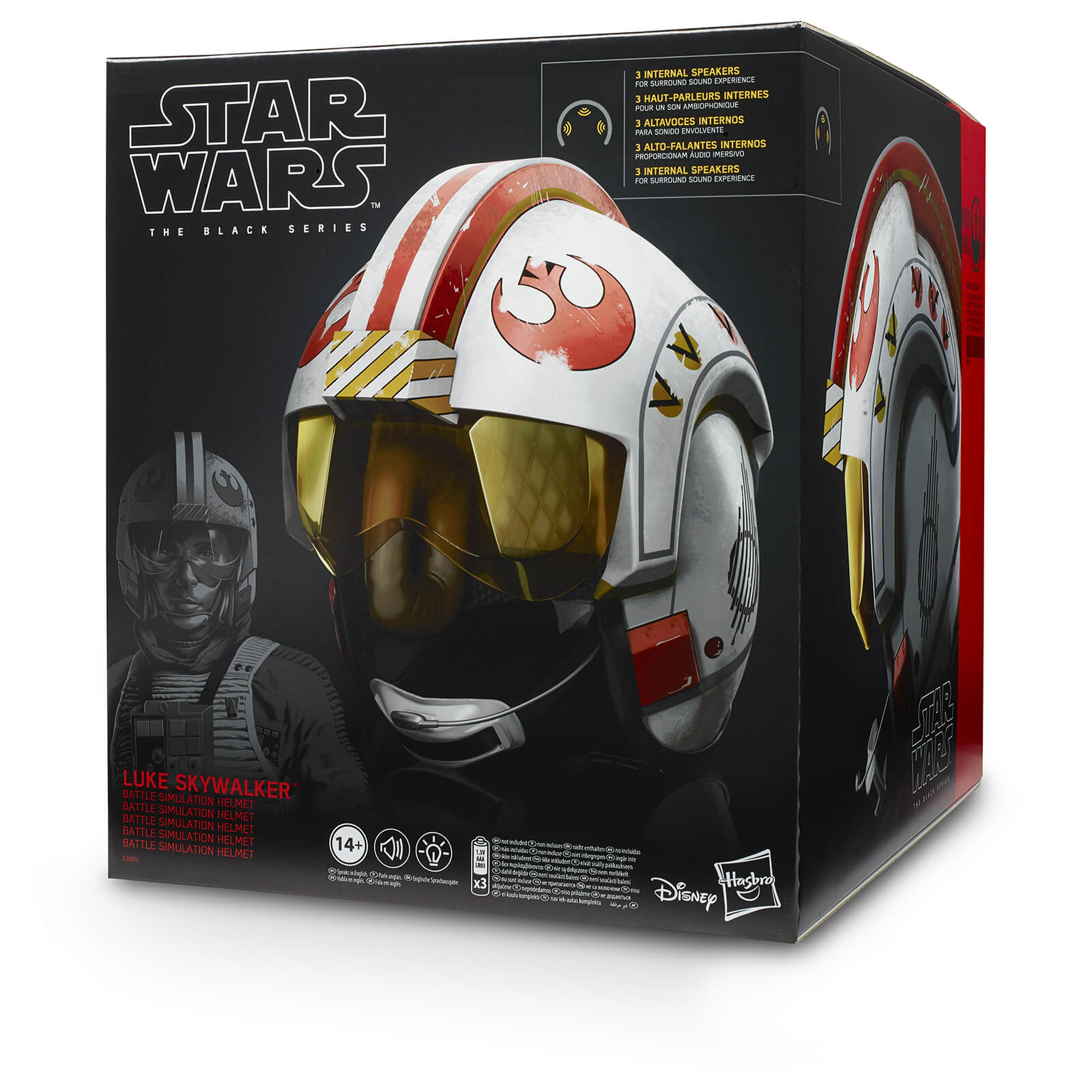 Riproduzione elettronica del casco di Luke Skywalker, simulazione di battaglia, alta qualità, Star Wars Black Series