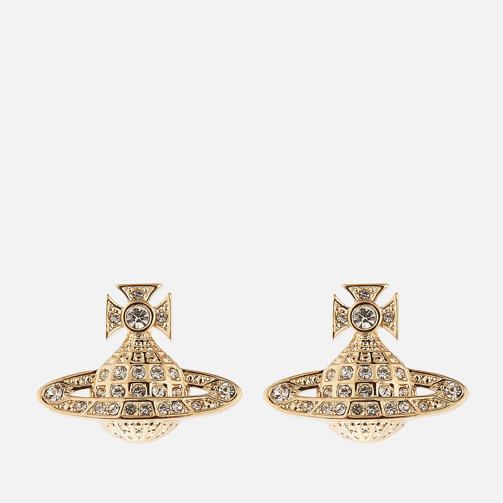 Vivienne Westwood Women's Minnie Bas Relief Earrings - Gold Crystal