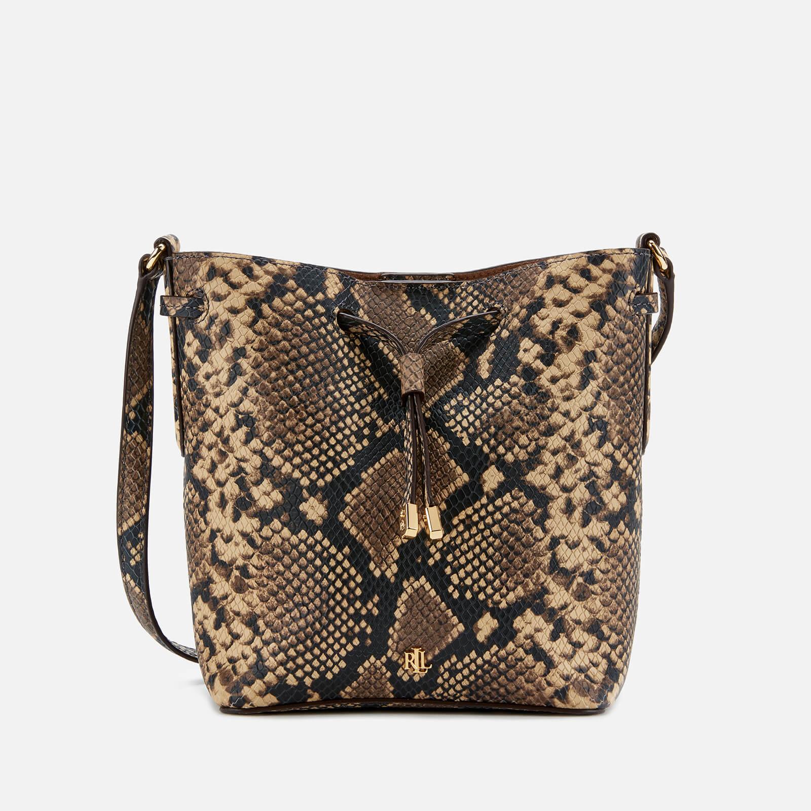 Lauren Ralph Lauren Women's Debby Snake Print Mini Drawstring Bag - Oatmeal Multi