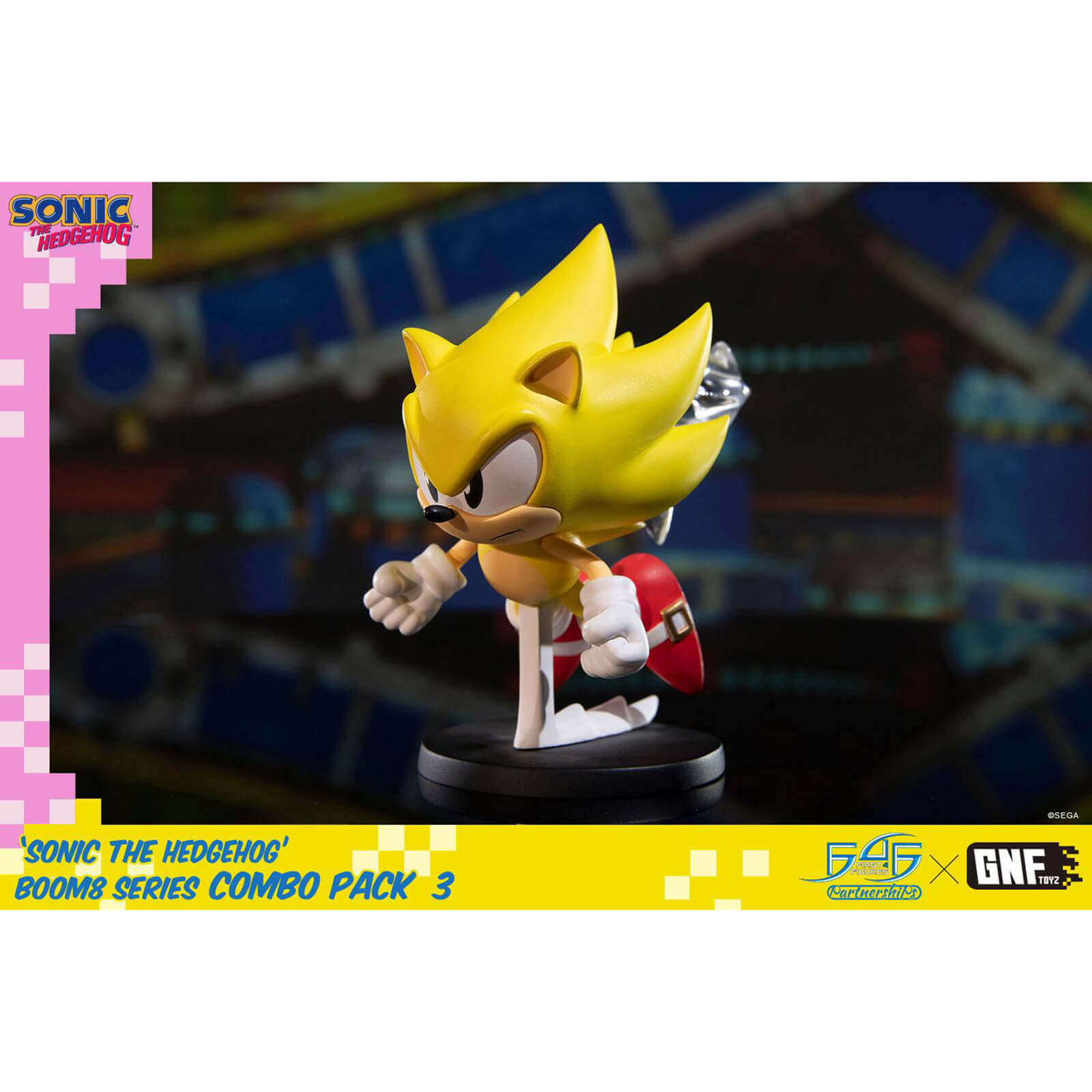 Image of First 4 Figures Sonic the Hedgehog BOOM8 Series PVC Figure Vol. 06 Super Sonic (8cm)