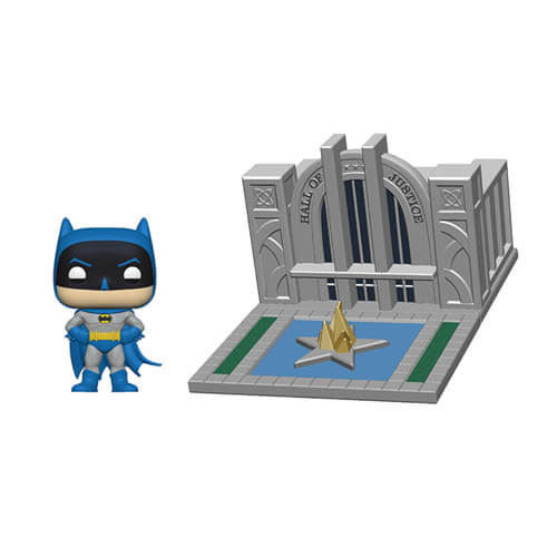 Batman With Hall Of Justice Batman 80th Pop! Town