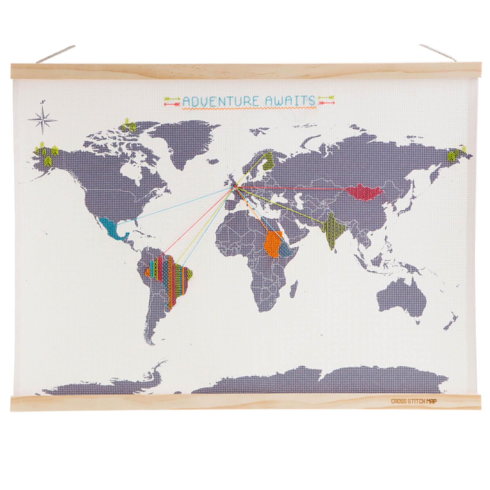 Image of Cross Stitch Map - Mini Version
