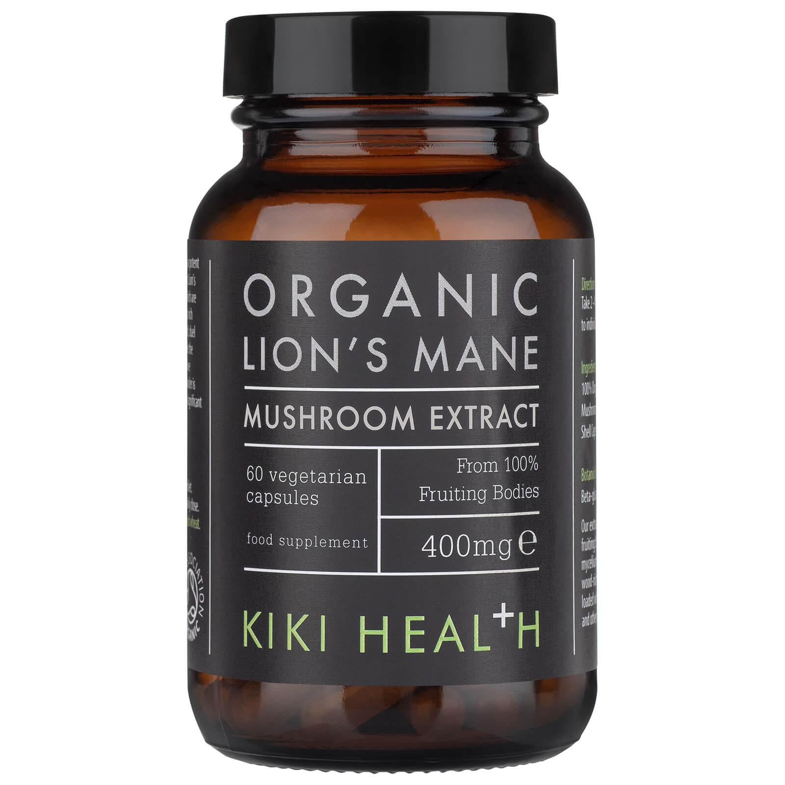 Купить KIKI Health Organic Lion's Mane Extract Mushroom (60 Vegicaps)