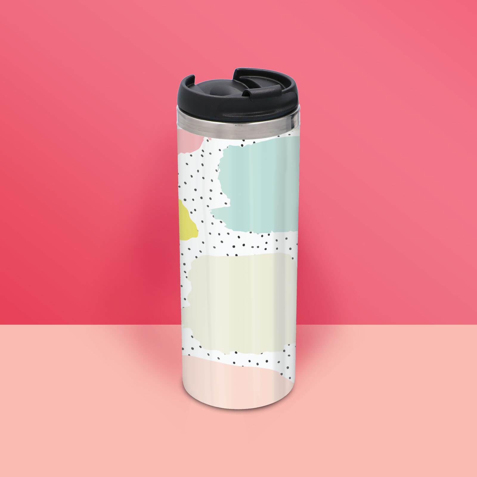 Vibrant Dot Pattern Stainless Steel Travel Mug
