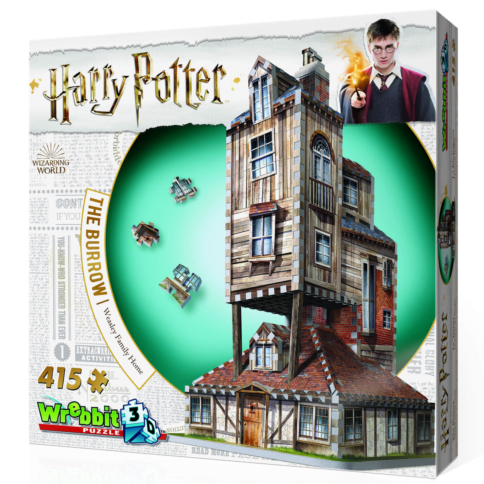 Image of Harry Potter The Burrow The Weasley's Family Home 3D Puzzle (415 Pieces)