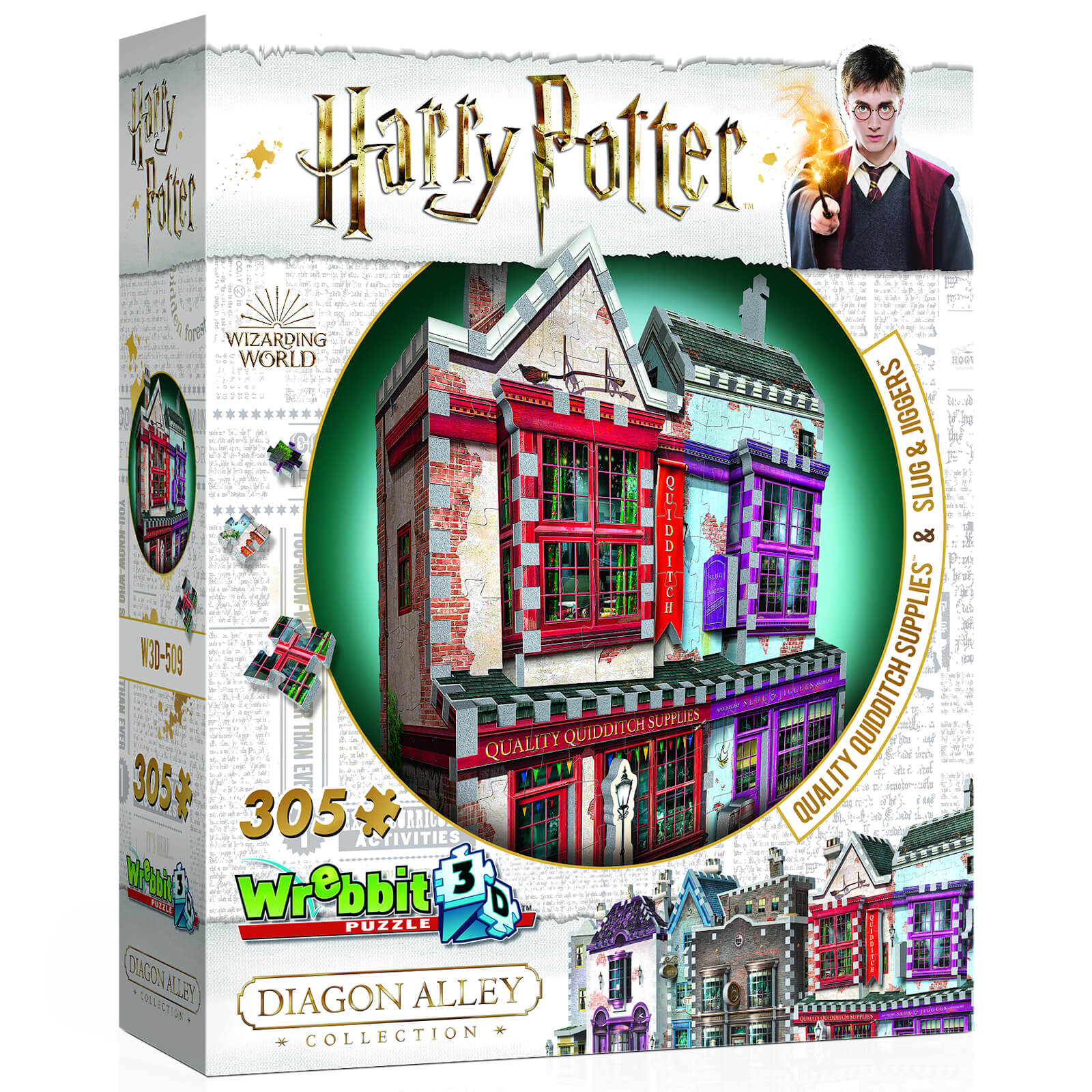 Image of Harry Potter Diagon Alley Collection Quidditch Supplies and Slug & Jiggers 3D Puzzle (305 Pieces)