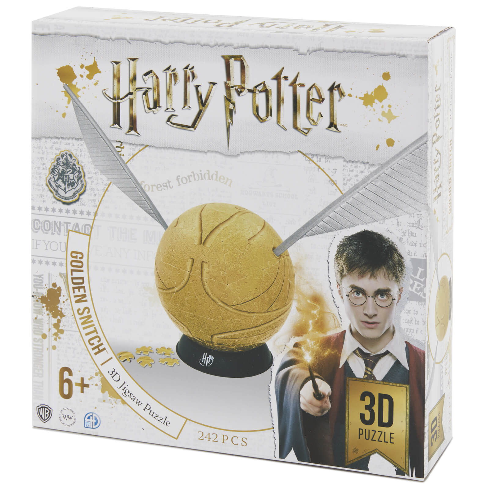 Image of Harry Potter 6 Inch Golden Snitch 3D Puzzle (242 Pieces)