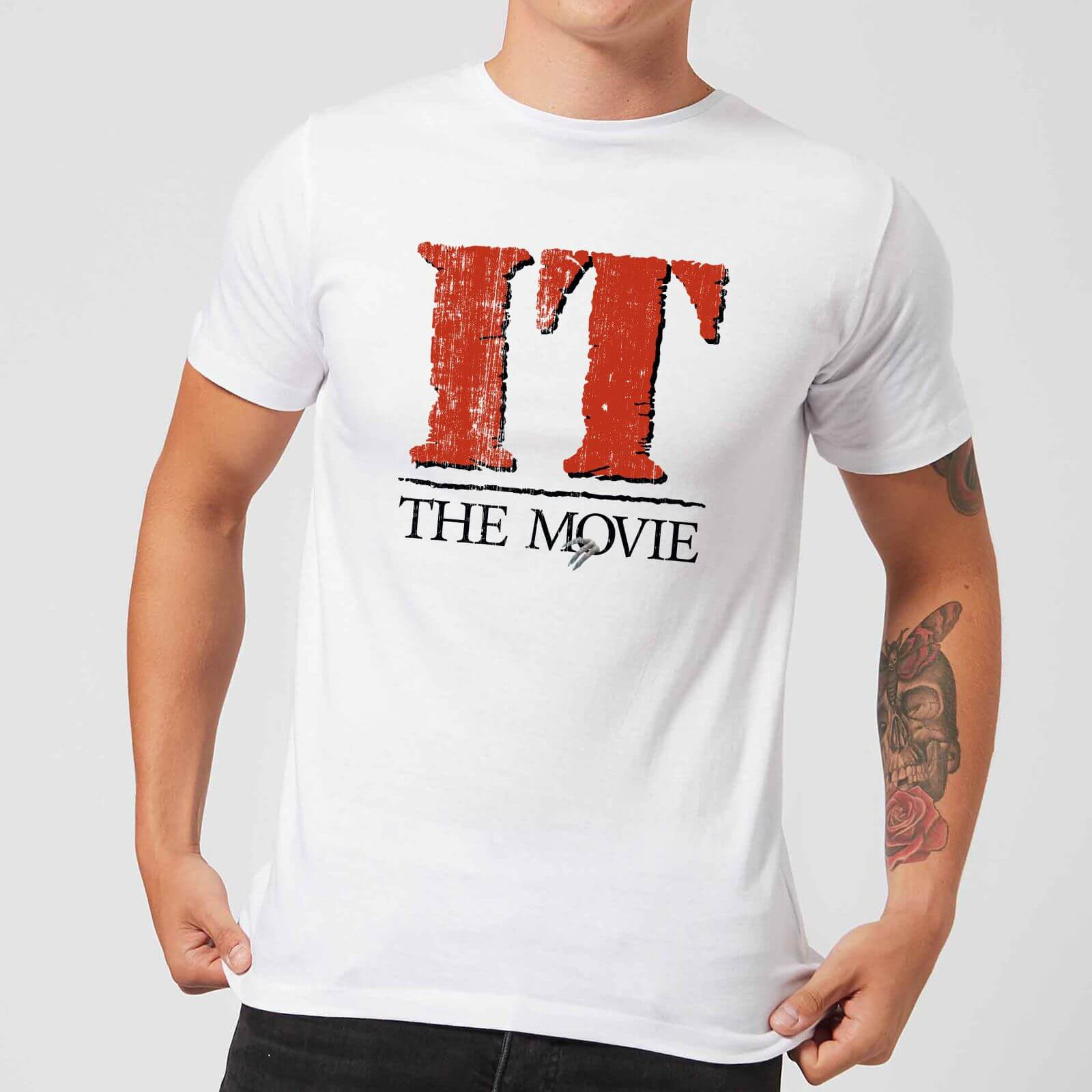 IT The Movie Men's T Shirt White XS Wit