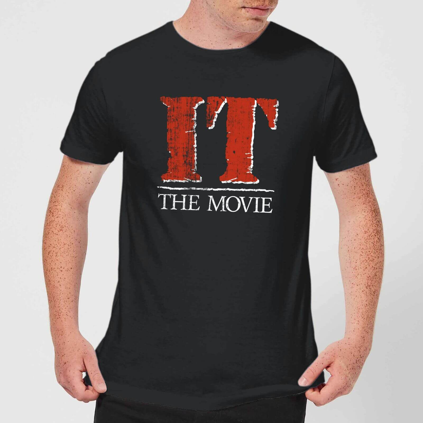 IT Men's T Shirt Black XS Zwart