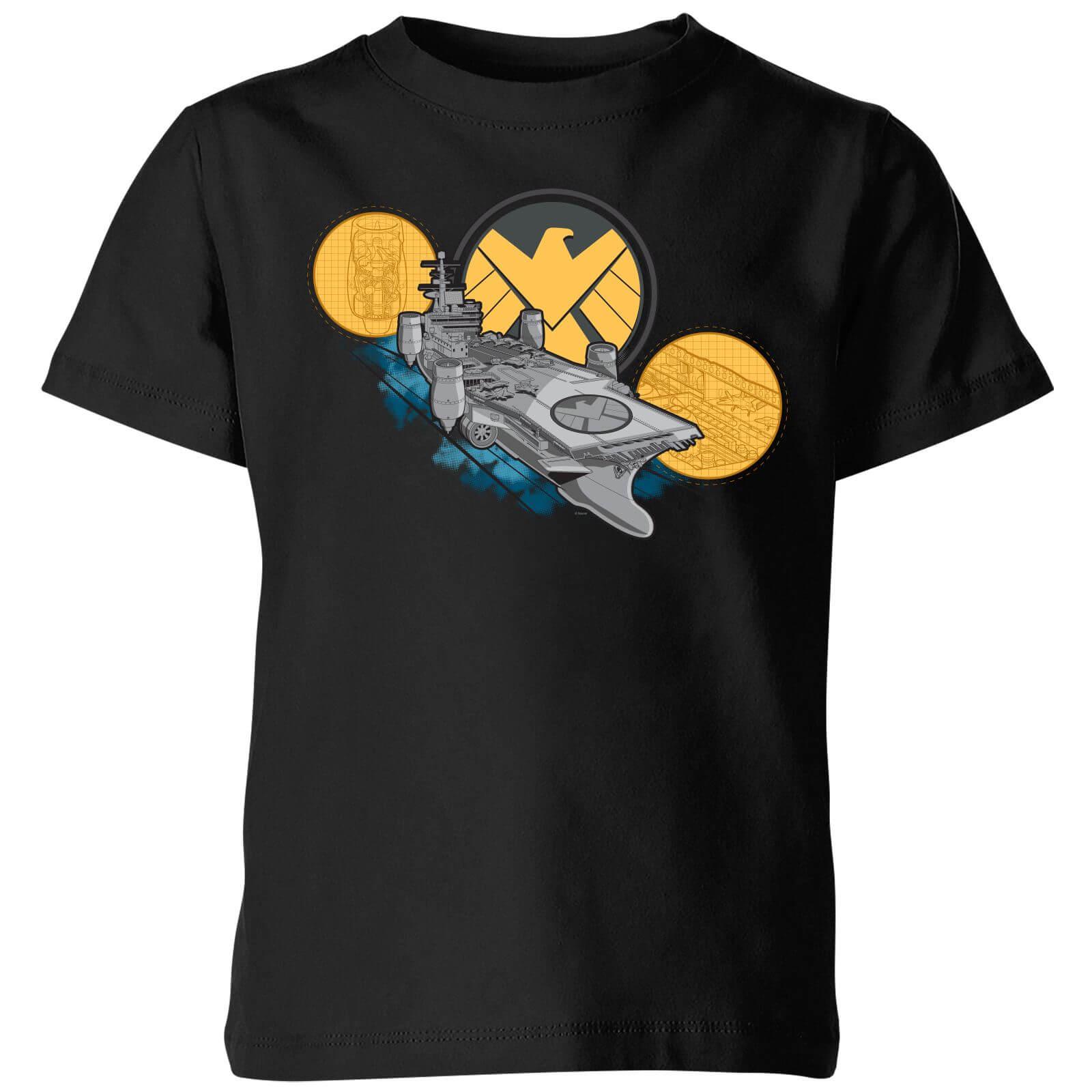 Marvel S.H.I.E.L.D. Helicarrier Kids' T-Shirt - Black - 5-6 Years - Black
