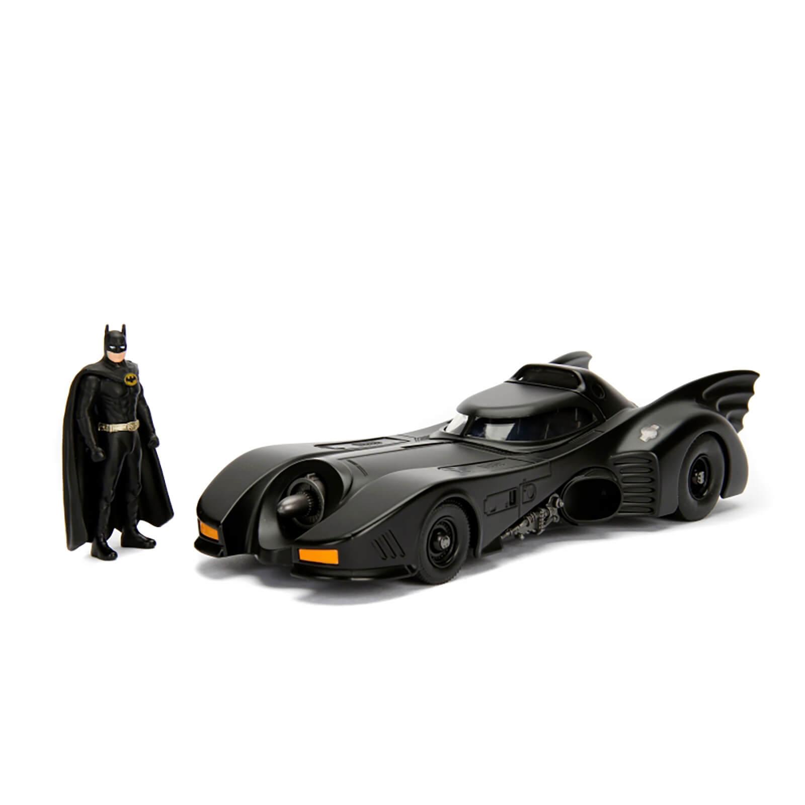 Modellino pressofuso 1:24 della Batmobile 1989 con Batman pressofuso - Jada