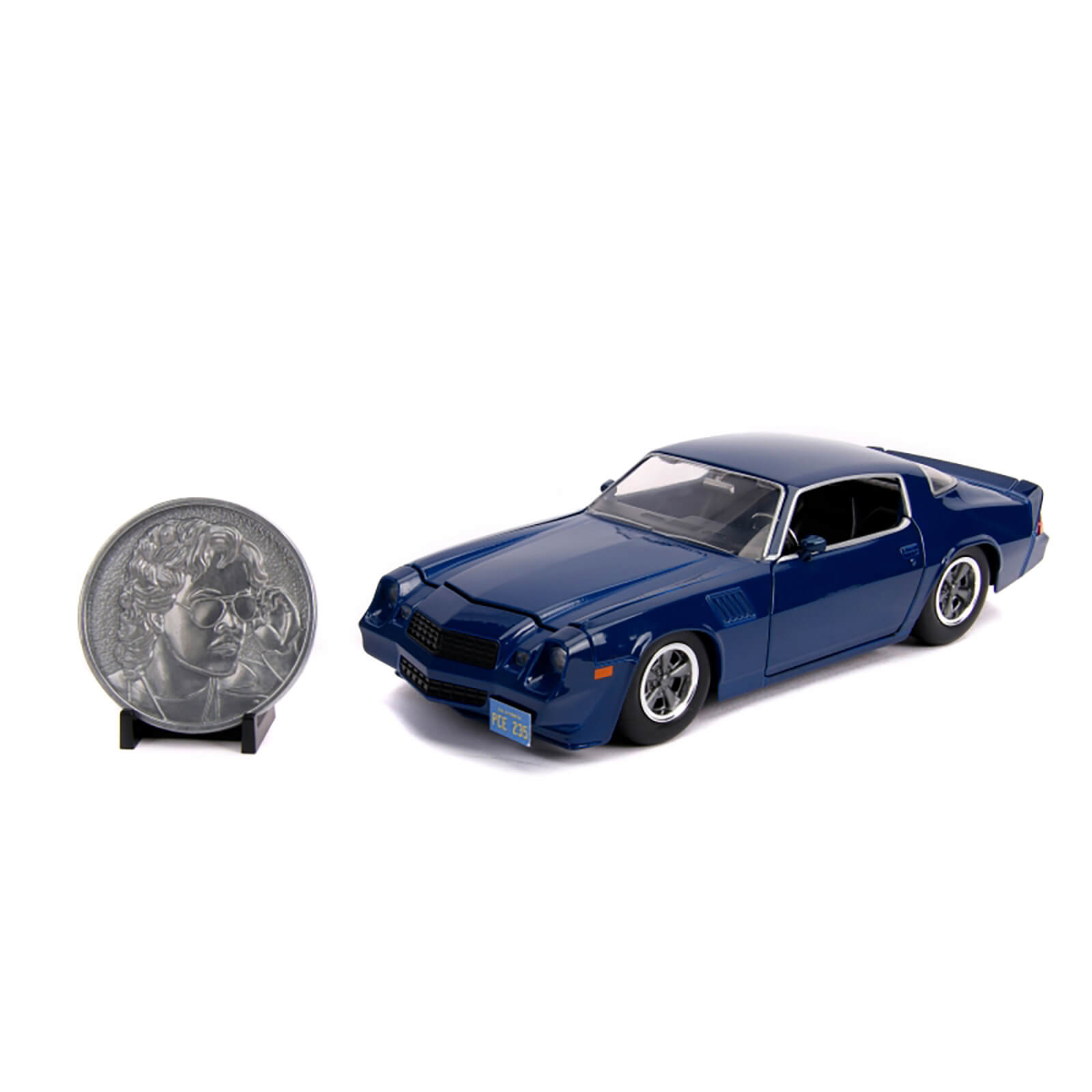 Image of Jada Die Cast 1:24 Stranger Things Billy's Chevy Camaro with Collector's Coin