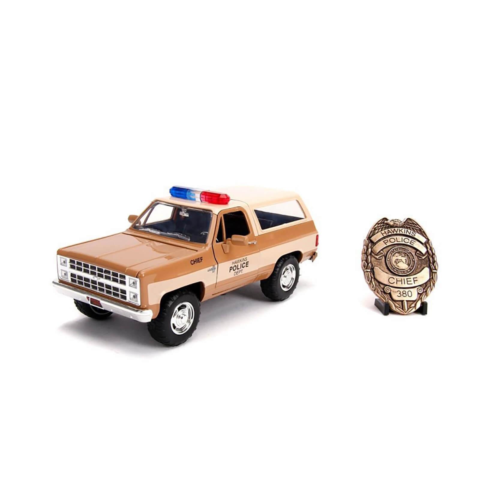 Image of Jada Die Cast 1:24 Stranger Things Hopper's Chevy Blazer with Sheriff's Badge