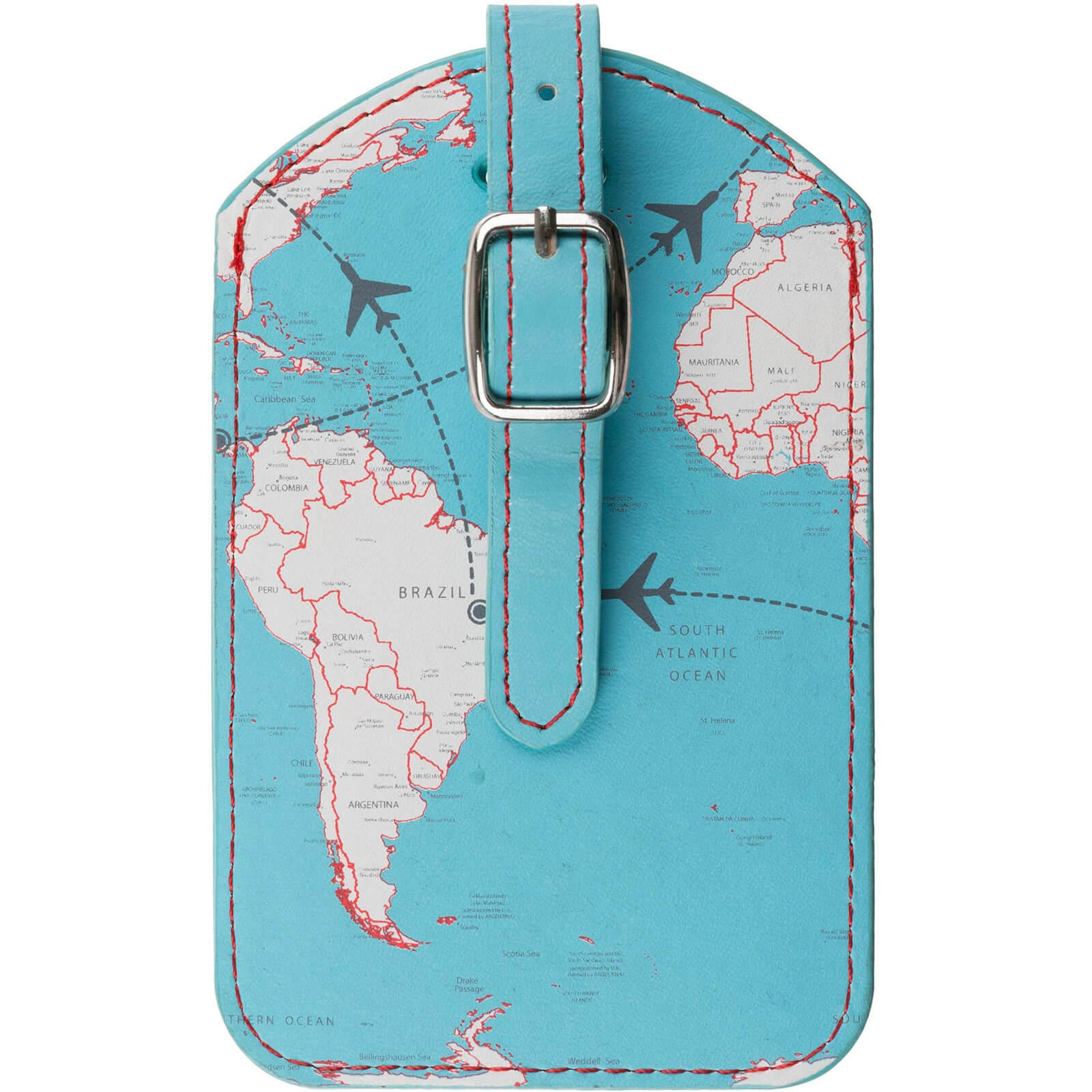 Trendz World Map Luggage Tag