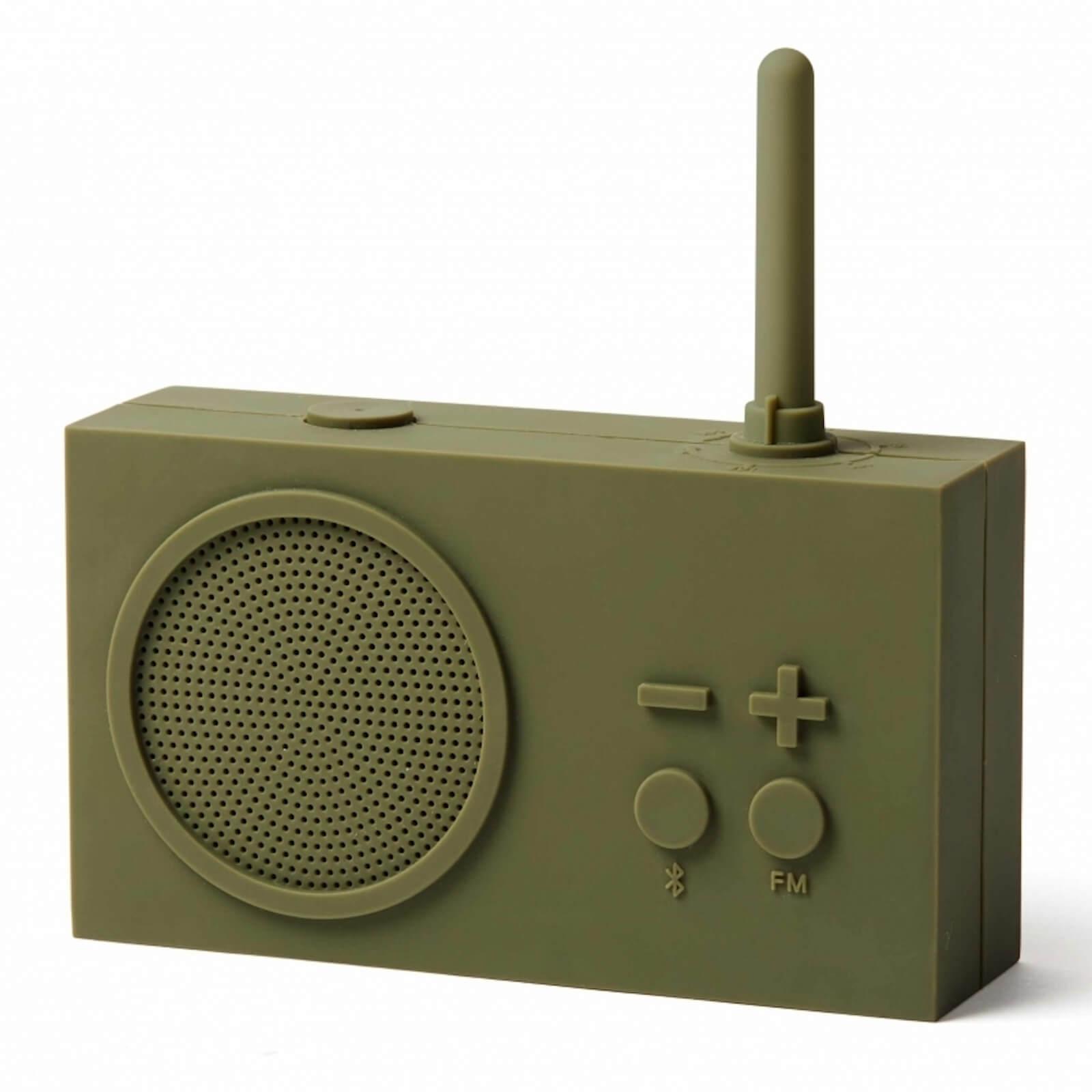 Lexon TYKHO 3 FM Radio and Bluetooth Speaker - Khaki