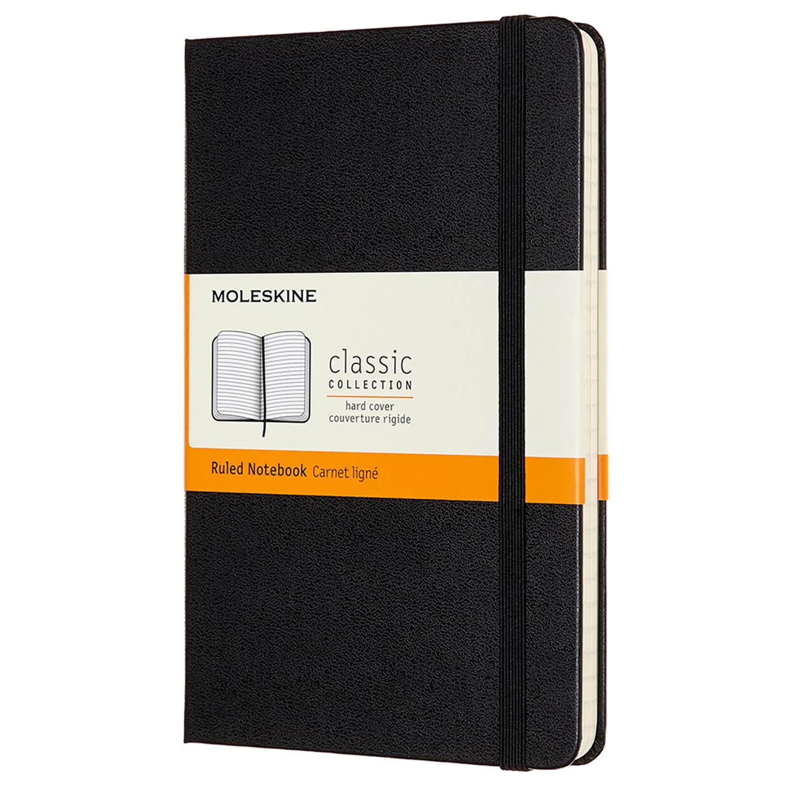 Moleskine Classic Ruled Hardcover Medium Notebook - Black