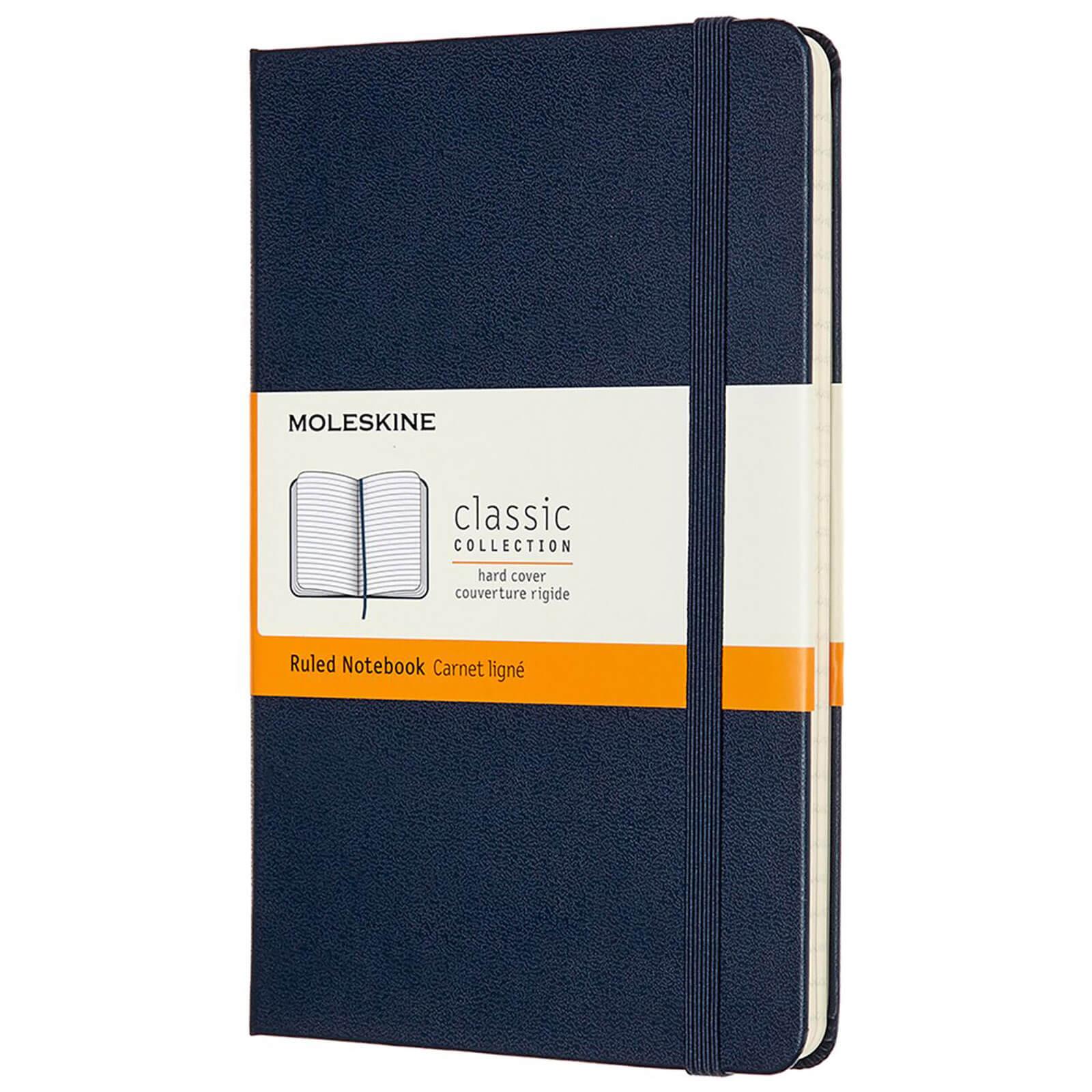 Moleskine Classic Ruled Hardcover Medium Notebook - Sapphire Blue