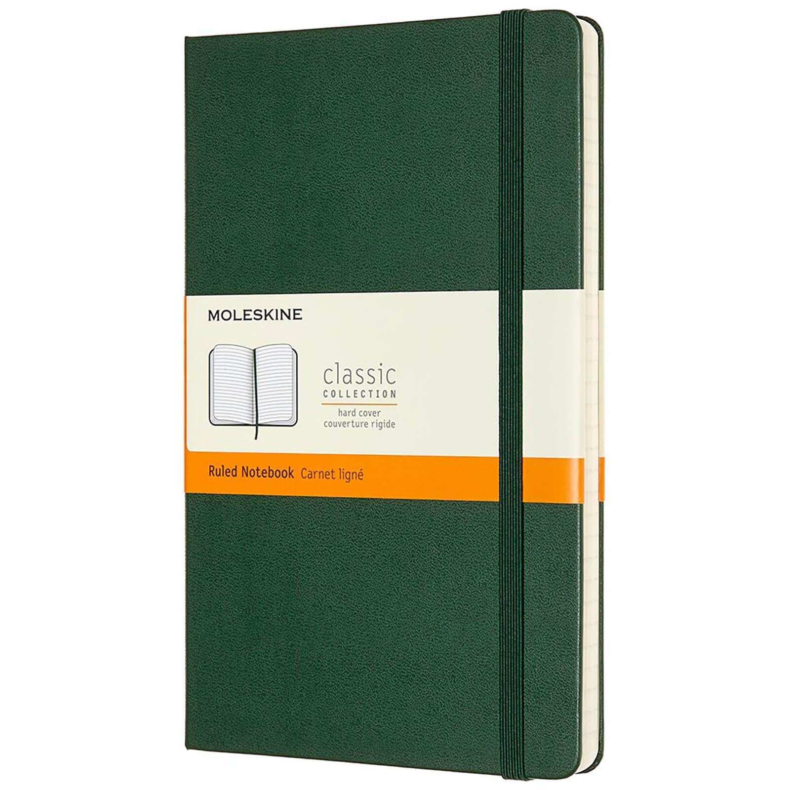 Moleskine Classic Ruled Hardcover Large Notebook - Myrtle Green