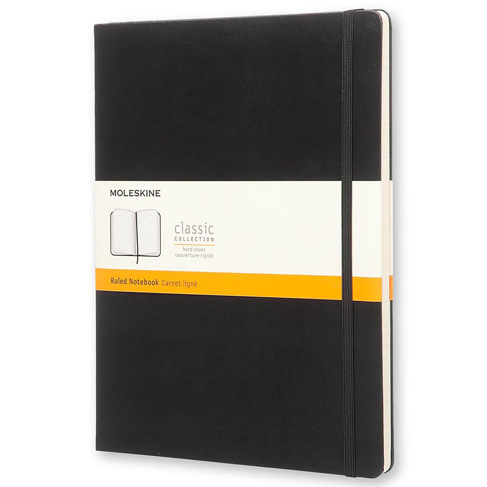 Moleskine Classic Ruled Hardcover XL Notebook - Black