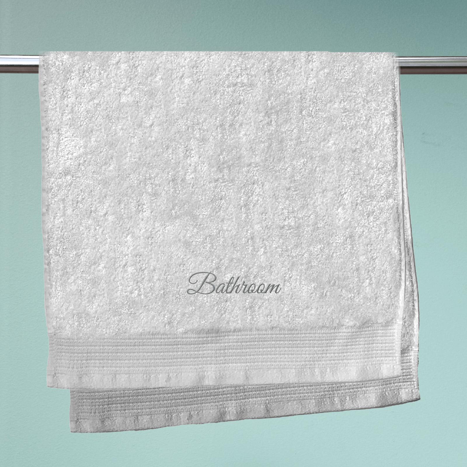 Bathroom Embroidered Hand Towel