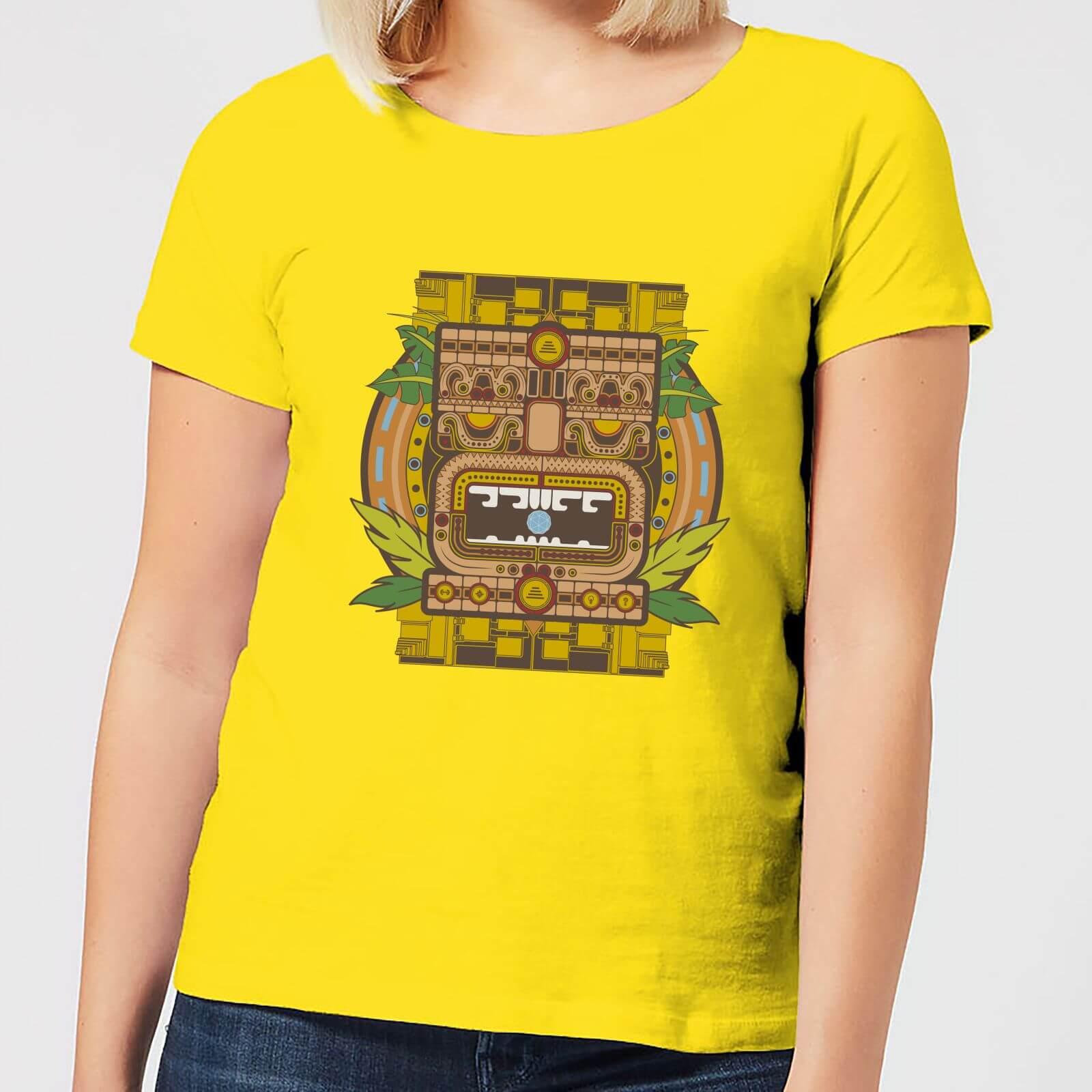 Crystal Maze Aztec Idol Women's T-Shirt - Yellow - S - Yellow
