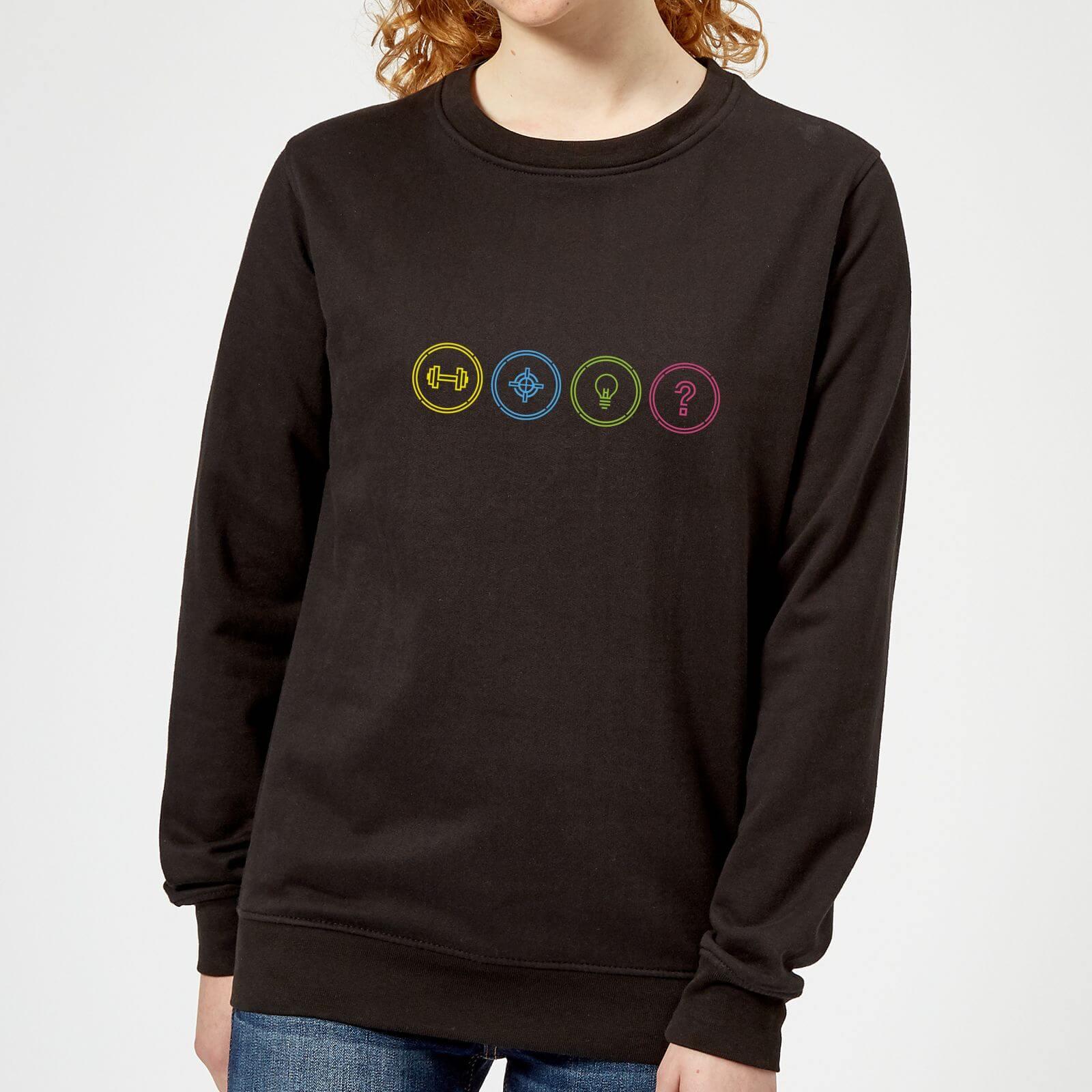 Crystal Maze Game Modes Women's Sweatshirt - Black - XL - Black