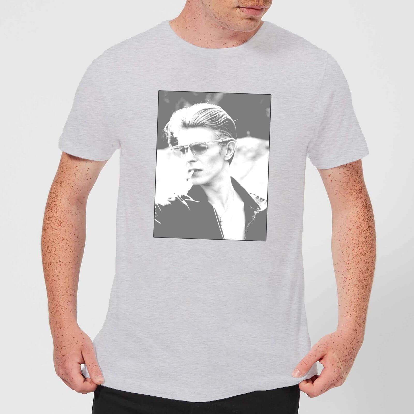 David Bowie Wild Profile Framed Men's T-Shirt - Grey - XL - Grey