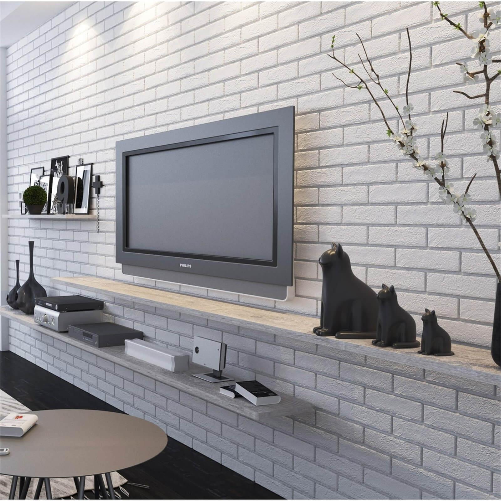 The Strand White Brick Wall Tiles Homebase