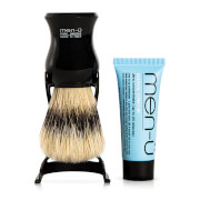 men-� Barbiere Shave Brush and Stand - Black