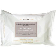 KORRES Milk Proteins Cleansing Wipes - Alle Hauttypen (25 Tücher)
