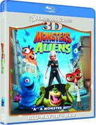 Monsters Vs Aliens 3D (3D Blu-Ray, 2D Blu-Ray en DVD)