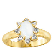 Gold Plated Opal Star Ring - R