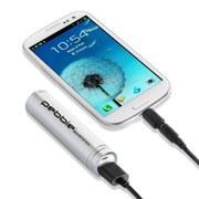 Veho Pebble Smartstick Emergency Portable Battery Back Up Power - Silver (2200mAh)