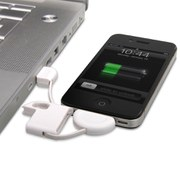 Image of iPhone Keyring with USB Charging Cable