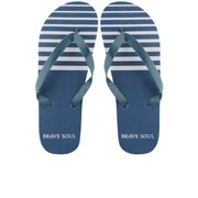 Brave Soul Men's Coast Flip Flops - Navy