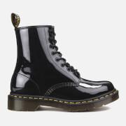 Dr. Martens Women's 1460 W Patent Lamper 8-Eye Boots - Black - UK 3 - Black