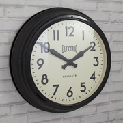 Newgate Giant Electric Wall Clock - Black