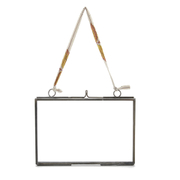 Nkuku Small Kiko Glass Frame - Matt Grey - Landscape 4