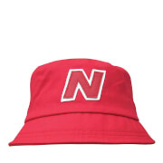 New Balance Unisex Glasto Cotton Bucket Hat - Cotton Twill Red/White