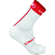 Castelli Free 9 Socken - S-M - White/Red