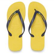Havaianas Unisex Brasil Logo Flip Flops - Citrus Yellow