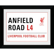 """Liverpool Anfield Street Sign - 16"""""""" x 12"""""""" Framed Photographic"""